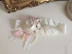 French Tea Baby Girl Headband by AvryCoutureCreations on Etsy