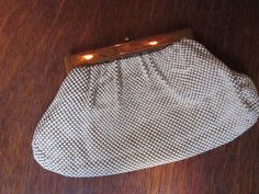 Whiting and Davis White Mesh Purse