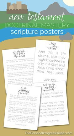 FREE Seminary New Testament Doctrinal Mastery Scripture Posters