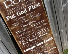 Family/ house Rules sign, Personalized for your family