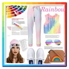 """""""Rainbow day"""" by lizz-med on Polyvore featuring moda, Anya Hindmarch, Revo, Winky Lux, Keds, Balmain y The Elder Statesman"""
