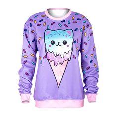 Kawaii Kitty Ice Cream Sweater