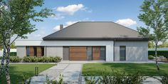 Wizualizacja CPT HomeKONCEPT-26 CE Village House Design, Village Houses, Sims House, House 2, Front Entry, Modern House Design, Planer, Building A House, House Plans