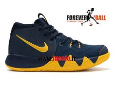"""online store 28777 3d637 Nike Kyrie 4 """"Cavs"""" - Chaussures de BasketBall Pas Cher Homme Midnight Navy"""