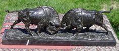 Franz Iffland Berlin Bronze Bison Büffel Wisent Rind Rinder Prärie Wilder Westen