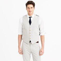 seersucker vest look for the groomsmen   J. Crew