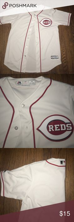 Reds Jersey Reds Baseball Jersey Majestic Shirts Tees - Short Sleeve