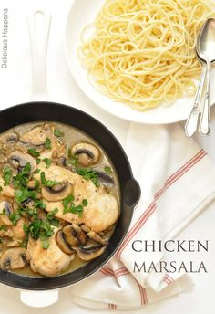 from The Harvest Kitchen THIS EASY CHICKEN MARSALA IS ONE OF MY FAVORITE CHICKEN DISHES!!