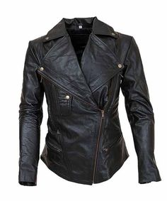 Women Black Leather Biker Jacket | Leather Jacket US http ...