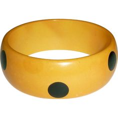 Bakelite Polka Dot Laminated Bangle Bracelet