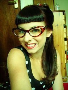 I so want a pair of these!  pin-up glasses