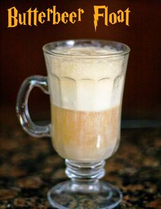 Butterbeer float recipe.  YES.