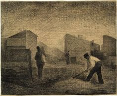 "Georges Seurat - ""Le Ranshee's Quarters"" 1881 