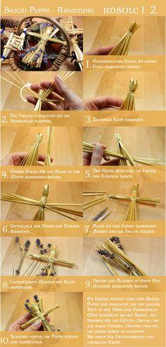 How to make a Brigid Doll - DIY  Brigid Puppe - Anleitung Imbolc straw doll