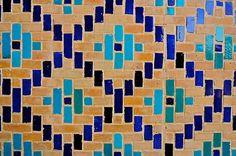 Uzbekistan, Bukhara, Kalon Mosque, Islamic Tile Work