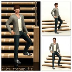 Step Up Poses for stairs by k2m1too for Sims 3
