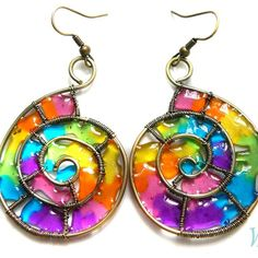 rainbowfashion.quenalbertini: Colorful earrings