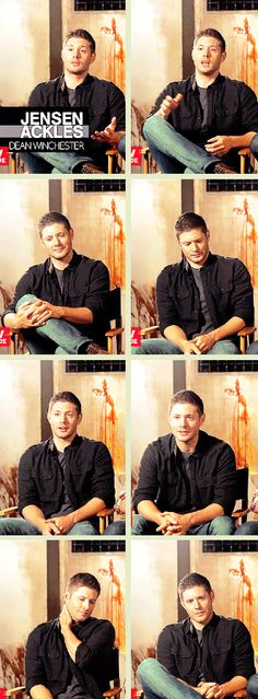 [GIFSET] So fun to watch Jensen deal with his nerves by hand gestures.  He just can't sit still when he's in the hot seat! :)