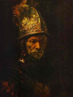 Man with the gold helmet by Rembrandt