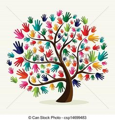 Clipart of Colorful solidarity hand tree - Search Clip Art, Illustration Murals, Drawings and Vector EPS Graphics Images - Hand Illustration, Hand Print Tree, Hispanic Heritage Month, Mothers Day Crafts, Art Plastique, Tree Art, Oeuvre D'art, Background Patterns, Vector Art