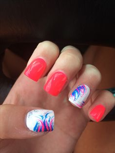 Acrylic nail design. Nail art