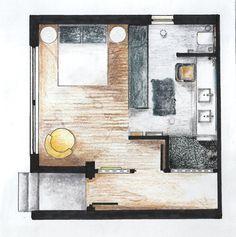 1st Year Design Project - Bathroom Design; Floorplan by Danelle van Wyk