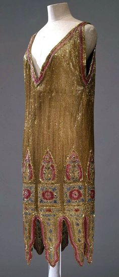 Evening dress, Italian manifacture, ca. 1925