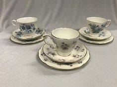 Group Of Two Queen Anne Trios And A Duchess Woodside Trio All Made in England