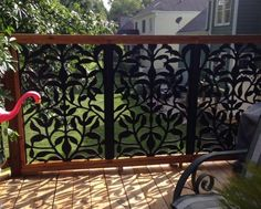 Acurio Latticeworks in. x 32 in. x 4 ft. Black Olive Branch Vinyl Decorative Panel at The Home Depot - Mobile Backyard Patio Designs, Backyard Landscaping, Backyard Ideas, Privacy Screen Outdoor, Privacy Screens, Garden Fence Panels, Patio Fence, Decorative Screen Panels, Outdoor Walls