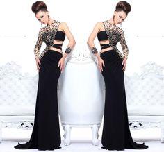 Full Black Prom Dress