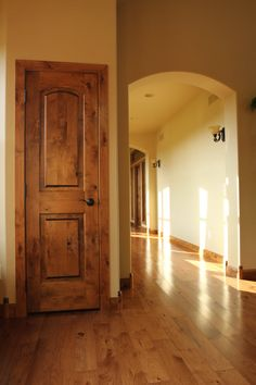 Interior Doors | Knotty Alder 2 panel arch top door is perfect for a ...
