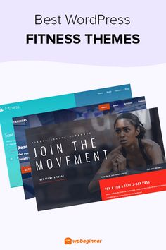 Best WordPress Themes for Fitness Blogs Fitness Websites, Fitness Blogs, Sticky Navigation, Hosting Company, Best Wordpress Themes, You Fitness, Gym Workouts, Teaching, Web Design