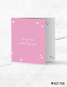 Wil jij mijn bruidsmeisje zijn? Lieve kaart om je bruidsmeisje van je bruiloft te vragen! Wedding. Bruiloft. Trouwen. Cadeau. Kaart. Inspiratie.