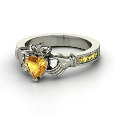 Claddagh Ring with Citrine