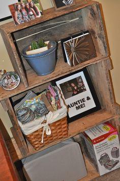 DIY Vintage Shabby Chic Crate Bookshelf
