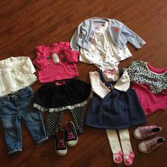 12 pieces winter bundle shoes are size 4 & 5  The jeans are new