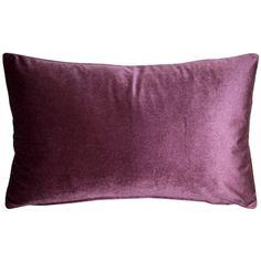Pillow Decor - Corona Aubergine Velvet Pillow in, 19 in, in) Velvet Pillows, Throw Pillows, Machine Wash Pillows, Pillow Arrangement, American Decor, Plum Color, Lumbar Pillow, Decoration, Decorative Pillows