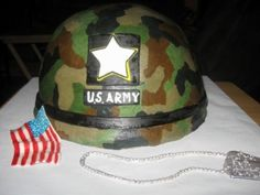 How to make an army helmet cake