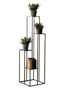 Black Iron Multilevel Pedestal Table | Brickell Collection • Modern Furniture Store