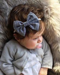 Chambray Stripe baby bow by turbansfortots on Etsy Cute Baby Girl, Cute Babies, Bow Headbands, Fabric Hair Bows, Handmade Baby Clothes, Future Children, Baby Bows, How To Make Bows, Baby Accessories