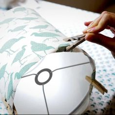 How to make lampshades - video series - pegging your lampshade paper to your rings