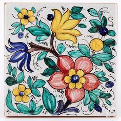 Italian ceramics tile 12 | Deruta Italian pottery by Francesca Niccacci: Tile 12