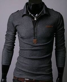 Shirt Type: Long Sleeve Polo Gender: Men Style:Fashion Material: Cotton Sleeve Length: Full Shipping: FREE - Worldwide!