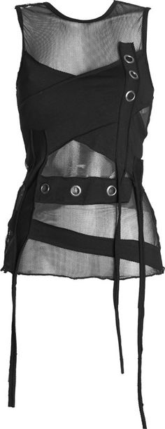 Gothic shop: girls mesh net shirt by Queen of Darkness