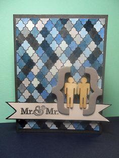 Wedding Card same sex men Mr and Mr by shrimpysuedesigns on Etsy, $4.00