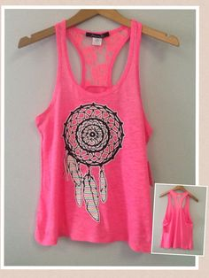Racer tank w/ laced back Dream Catcher