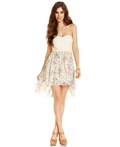 Strapless Eyelet High-Low from Macys