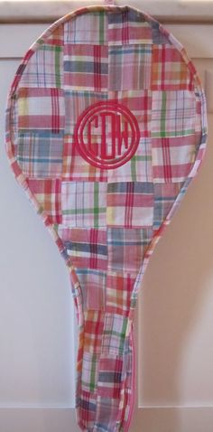 Just Madras Tucker's Point Tennis cover as featured in the July issue of Elle Magazine.  $110.00 monogram additional