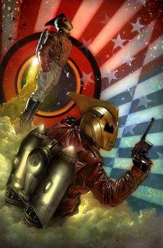 ¿A qué está esperando Hollywood para hacer otra película de Rocketeer? Ilustración de Nick Runge (http://alamoscout6.deviantart.com/)