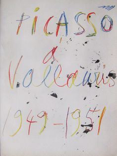 "Rare, Pablo Picasso, ""Vallauris"", Original Fine Art, 1951 Vintage Picasso Lithograph, Original Verve Art, Free Shipping by FunFloridaVintage on Etsy"